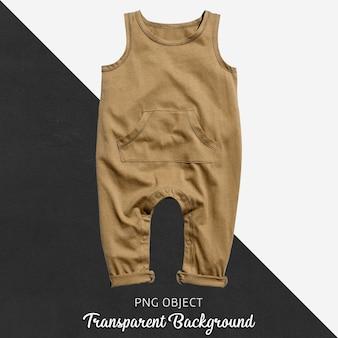 透明な茶色の赤ん坊のジャンプスーツかボディスーツ