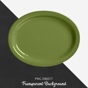 Прозрачная эллипсовая зеленая посуда