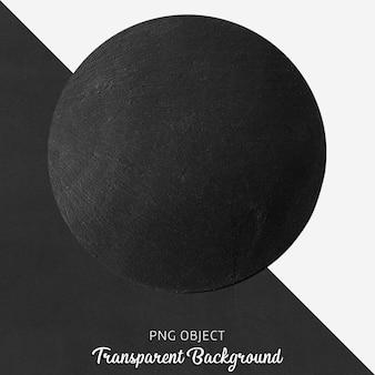 Прозрачная черная круглая сервировочная тарелка