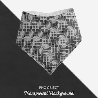 透明な白黒模様のバンダナ