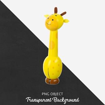 透明な木製のキリンのおもちゃ