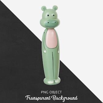 透明な木製の象のおもちゃ