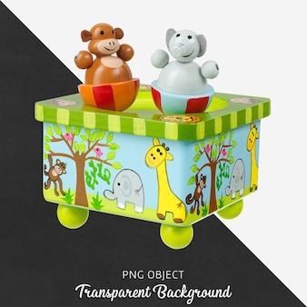 透明な木製の動物のおもちゃ