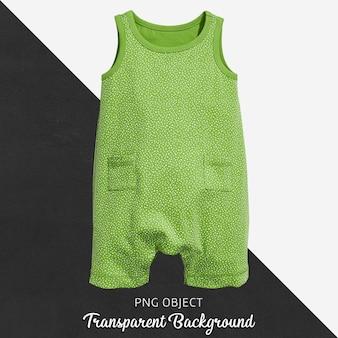 赤ちゃんや子供のための透明な緑色のジャンプスーツ