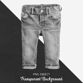 赤ちゃんや子供のための透明なブラックジーンズのズボン