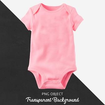 透明な背景に赤ちゃんのためのピンクのボディスーツ