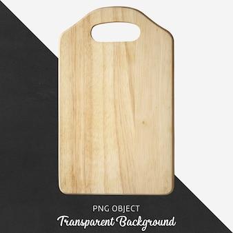 Деревянная сервировочная доска или разделочная доска на прозрачном фоне