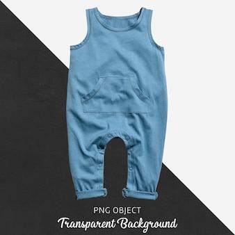 赤ちゃんや子供たちの透明な背景に青いジャンプスーツ