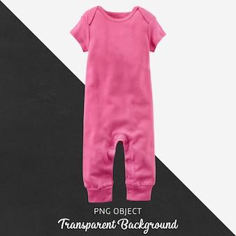 赤ちゃんや子供たちの透明な背景にピンクのジャンプスーツ