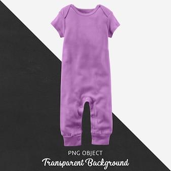 透明な赤ちゃんや子供のための紫色のジャンプスーツ