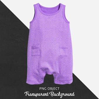 透明の赤ちゃんのための紫色のジャンプスーツ