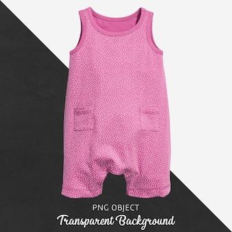 透明の赤ちゃんのためのピンクのジャンプスーツ