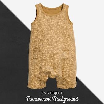 透明の茶色のジャンプスーツ