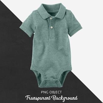 透明の赤ちゃんや子供のためのターコイズブルーのポロボディースーツ