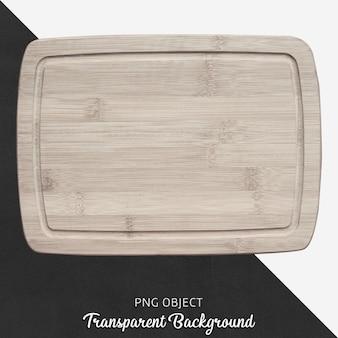 透明な背景に木製のサービングボード