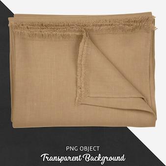 透明な背景に茶色のテーブルクロス繊維