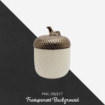 透明のブロンズのふた付きの装飾品