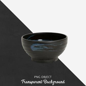 Черная сервировочная тарелка на прозрачном