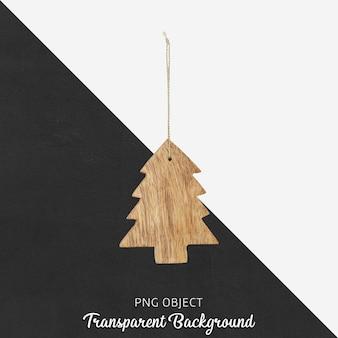 透明な背景にクリスマス飾り