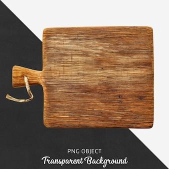 透明な木製のカッティングボードまたはサービスボード