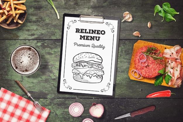 Бургер меню макет
