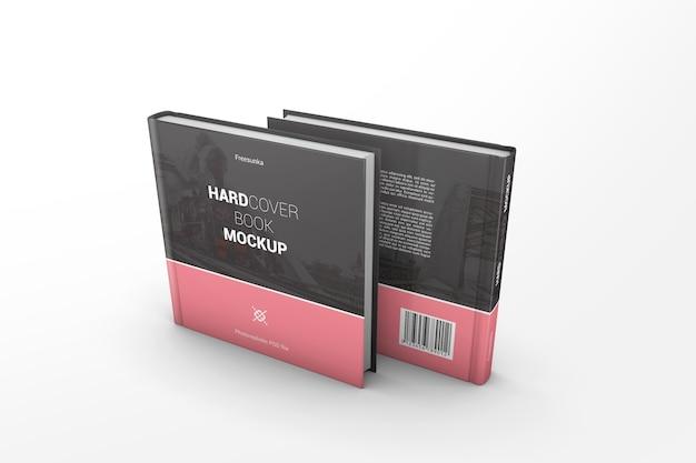 Два макета с квадратными книгами в твердой обложке