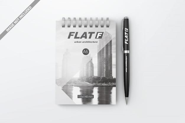 Ручка сверху с макетом для ноутбука