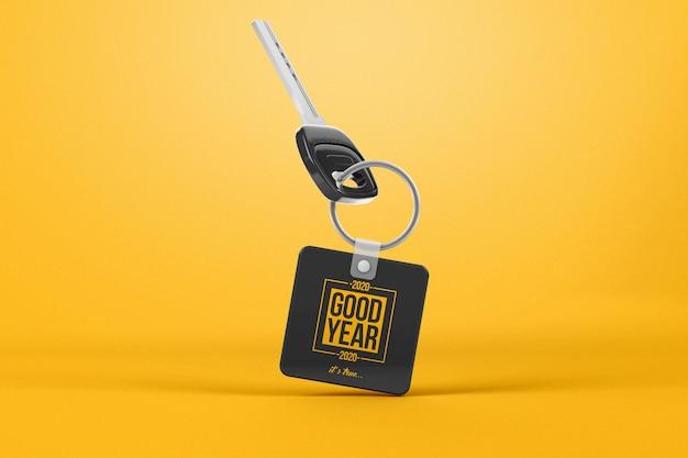 Гравитационный ключ с квадратным макетом брелка