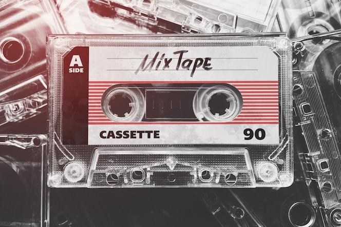 レトロなテープカセットモックアップ
