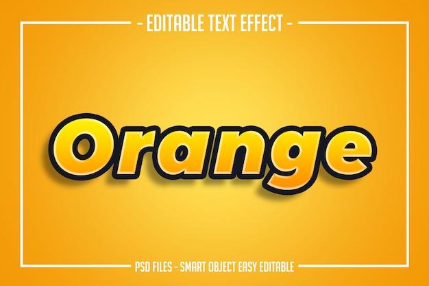 現代の太字のオレンジ色のテキストスタイルの編集可能なフォント効果