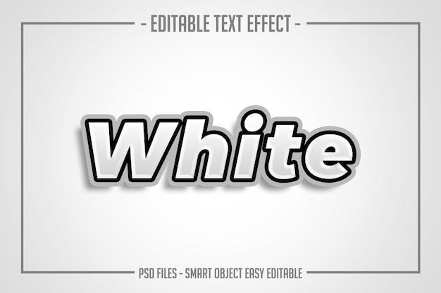 太字の白いテキストスタイルの編集可能なフォント効果