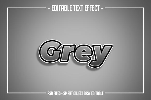 シンプルなグレーのテキストスタイルの編集可能なフォント効果
