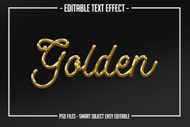 ゴールデンスクリプトテキストスタイルの編集可能なフォント効果