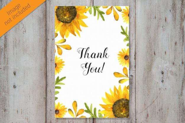 ありがとう水彩画カードテンプレート
