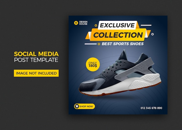 靴販売ソーシャルメディアの投稿テンプレート