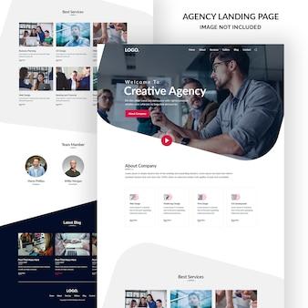 企業および創造的なデザイン代理店のランディングページバナー