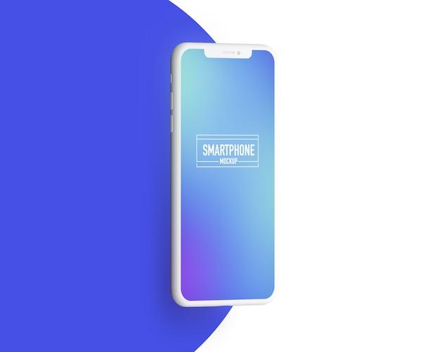 現実的なスマートフォンのモックアップ。きれいなスマートフォンのモックアップ