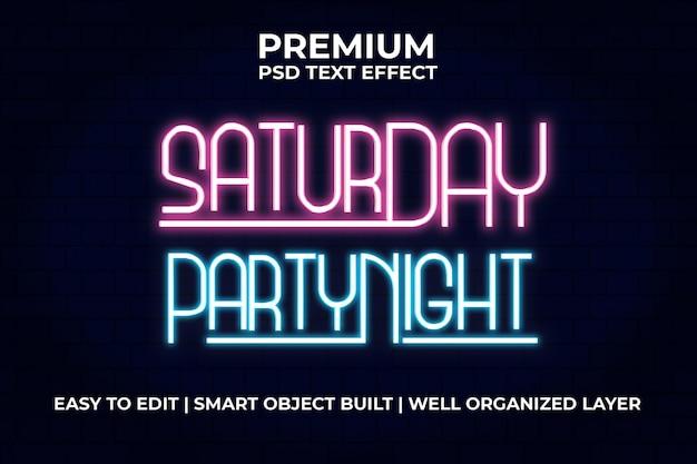 Текстовый эффект субботней вечеринки