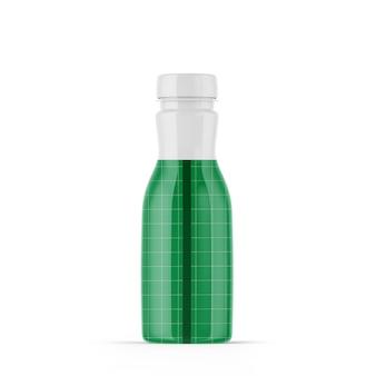 光沢のあるプラスチック製のボトルのモックアップ