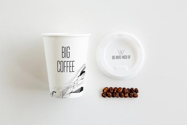 コーヒーのモックアップ