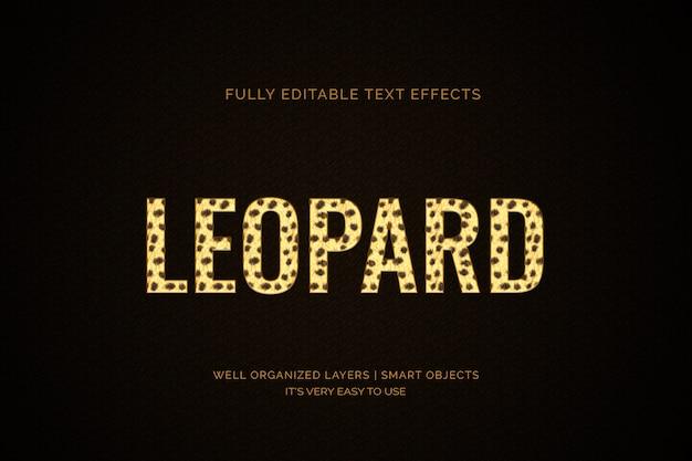 Текстовый эффект леопарда