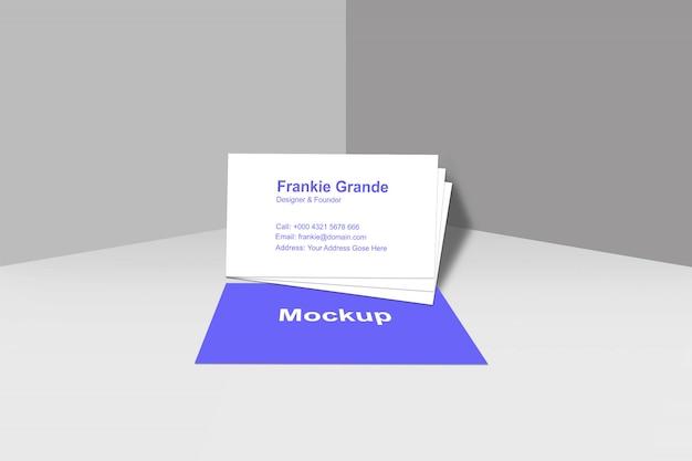 Вид спереди дизайн макета визитной карточки