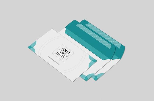 ビジネス封筒モックアップテンプレート