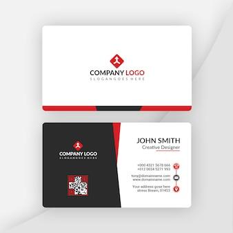 Красная и черная визитная карточка