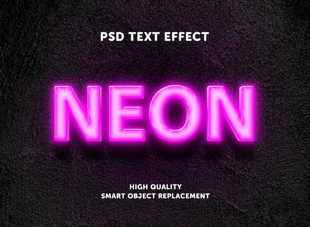 Редактируемый текстовый эффект - розовая неоновая коробка