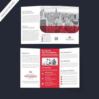 Корпоративная тройная брошюра