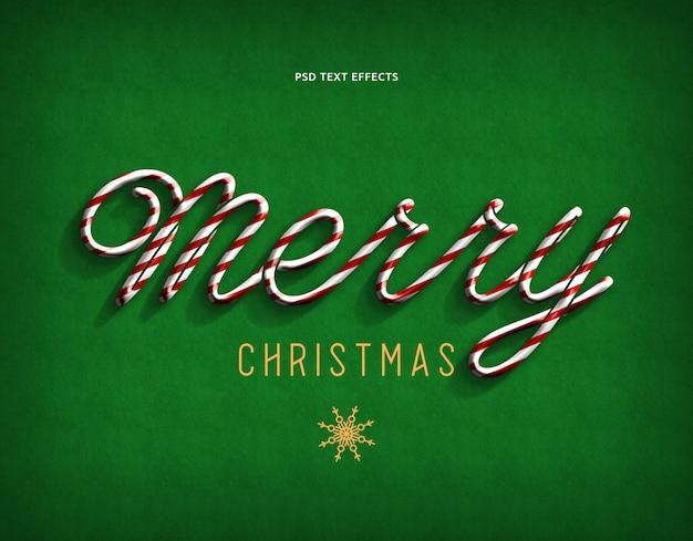 メリークリスマステキストスタイル効果緑
