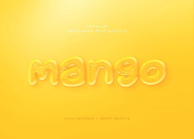 Стиль текста с эффектом манго