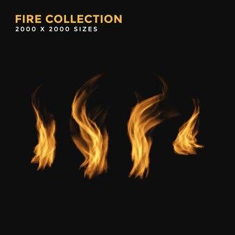 炎効果抽象火災コレクション