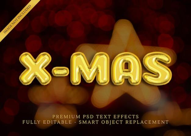 Рождественские текстовые эффекты на белом фоне